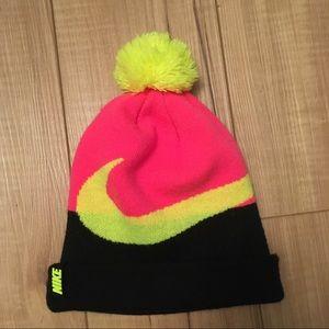 Youth Nike Neon Swoosh Beanie